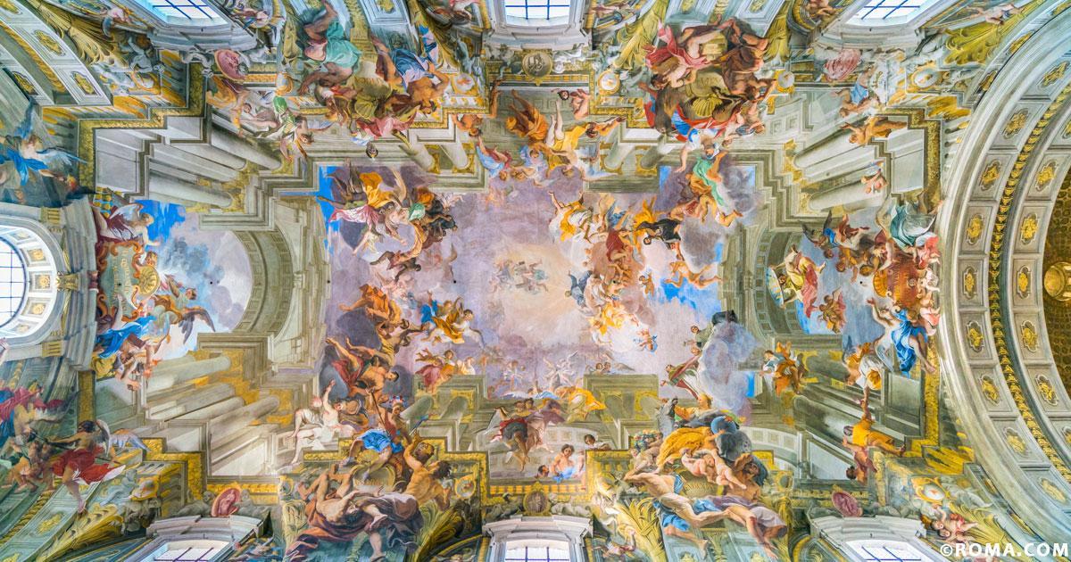 Roma barocca, non solo sculture ma anche affreschi, la Chiesa di Sant'Ignazio
