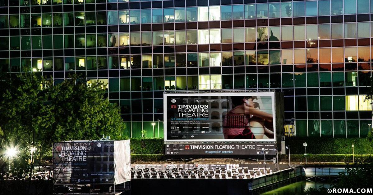 All'EUR il cinema sul laghetto, il TimVision Floating Theatre