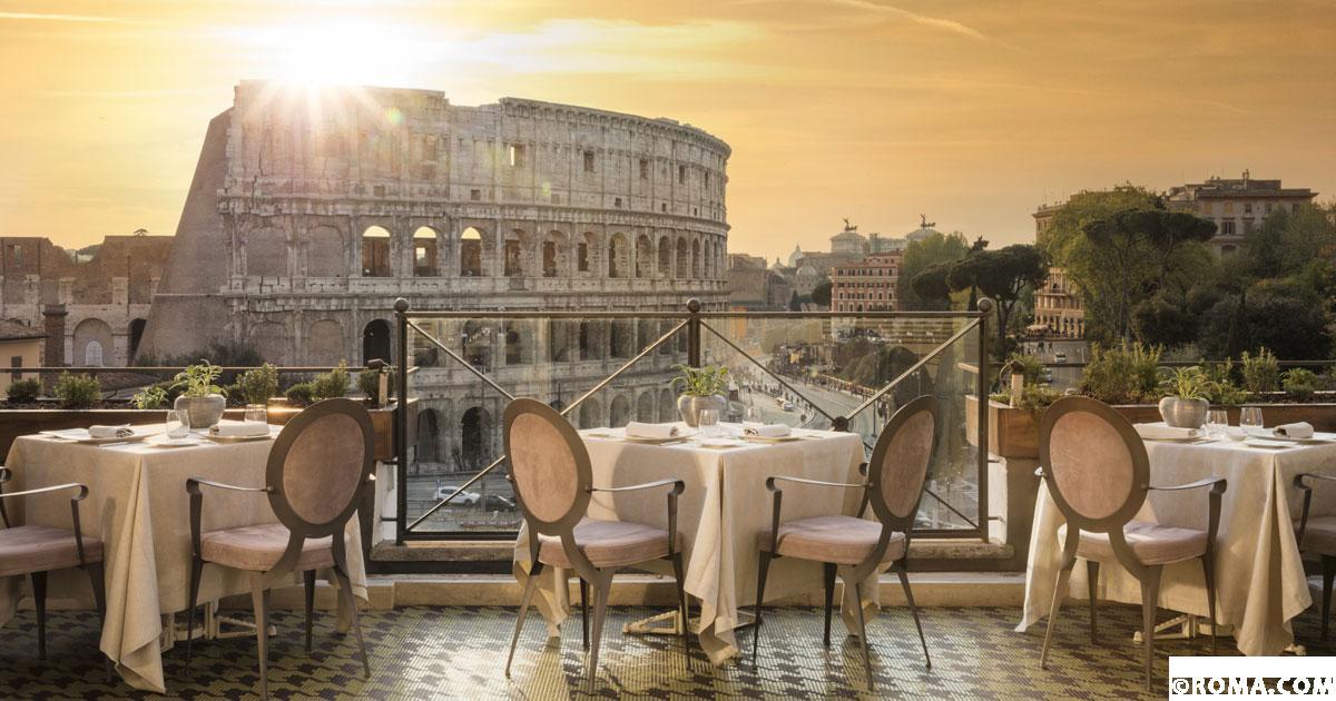 Le 10 terrazze gourmet con vista sulla Capitale