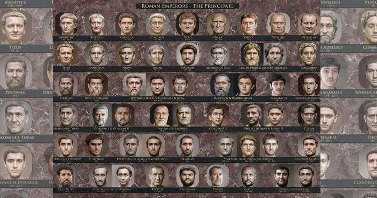 I volti degli imperatori romani, come non li avete mai visti!